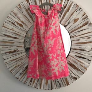 Gap pink and cream floral dress 4t